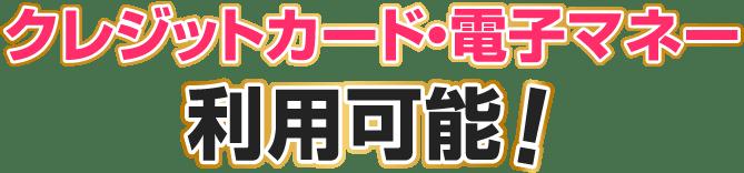 クレジットカード・AirPAY利用可能!