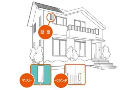 外観をオシャレに設置デザインアンテナ提案
