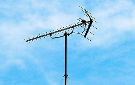 八木式アンテナ+BSアンテナ