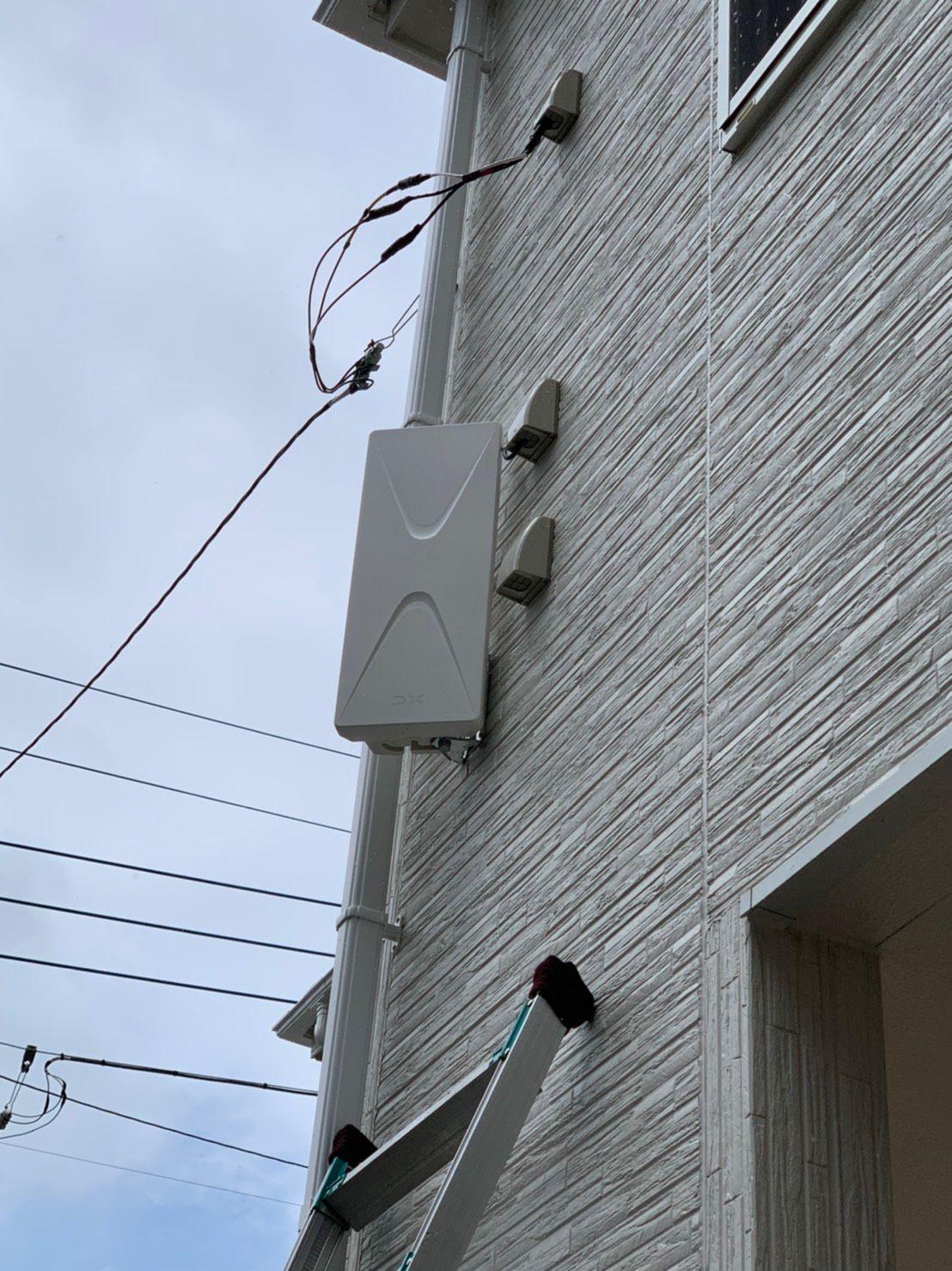 デザインアンテナ壁面設置 DXアンテナ(千葉県松戸市)