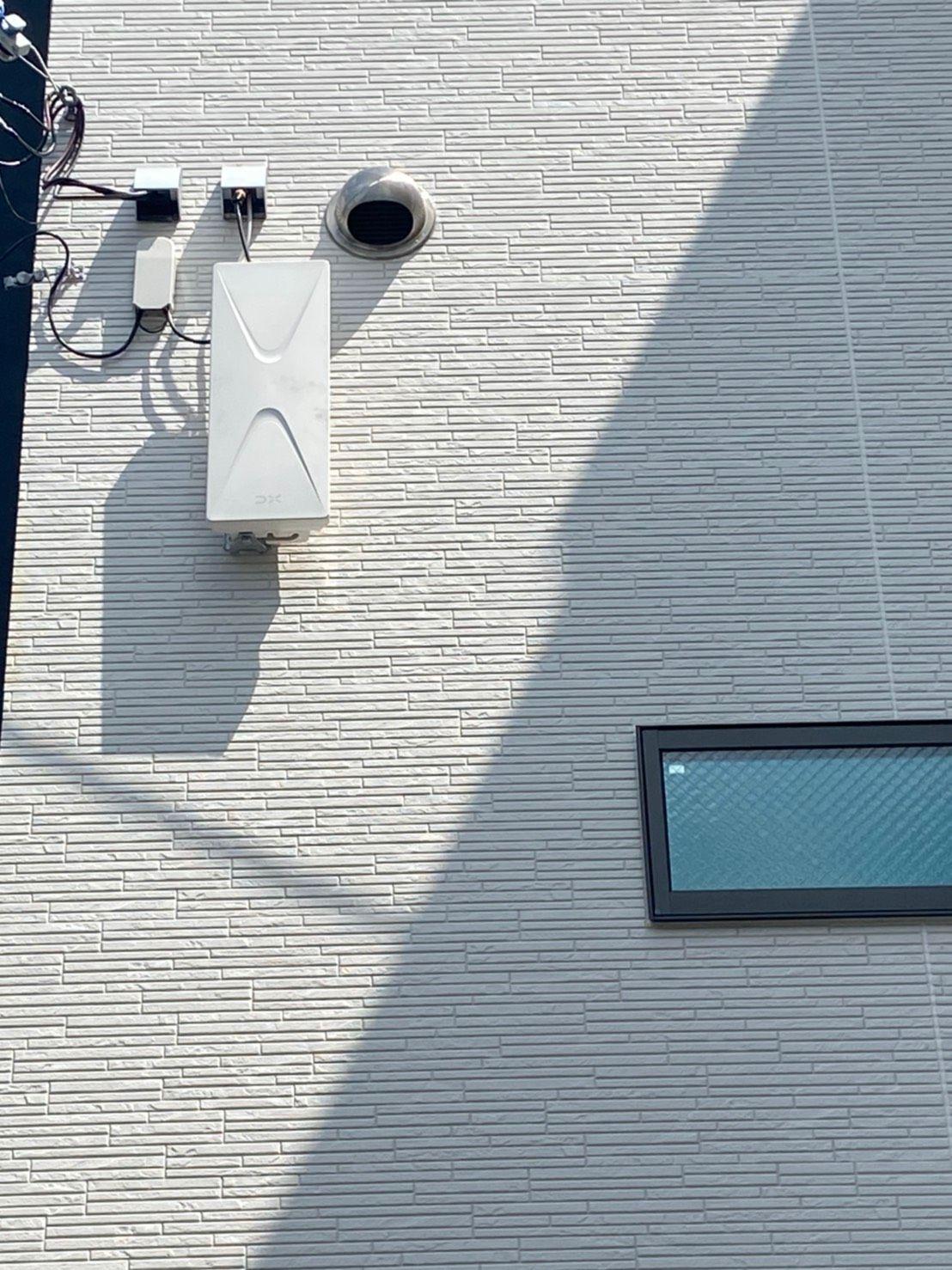 デザインアンテナ壁面設置 DXアンテナ(大阪府大阪市)