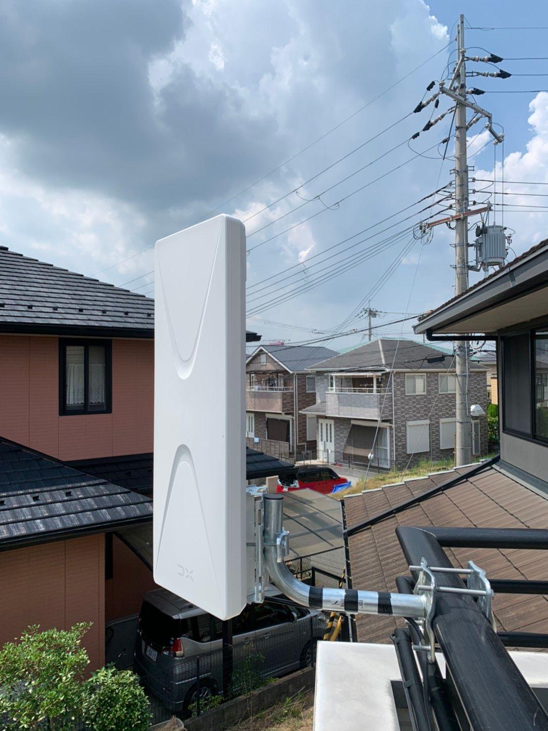 デザインアンテナベランダ設置 DXアンテナ(神戸市北区)