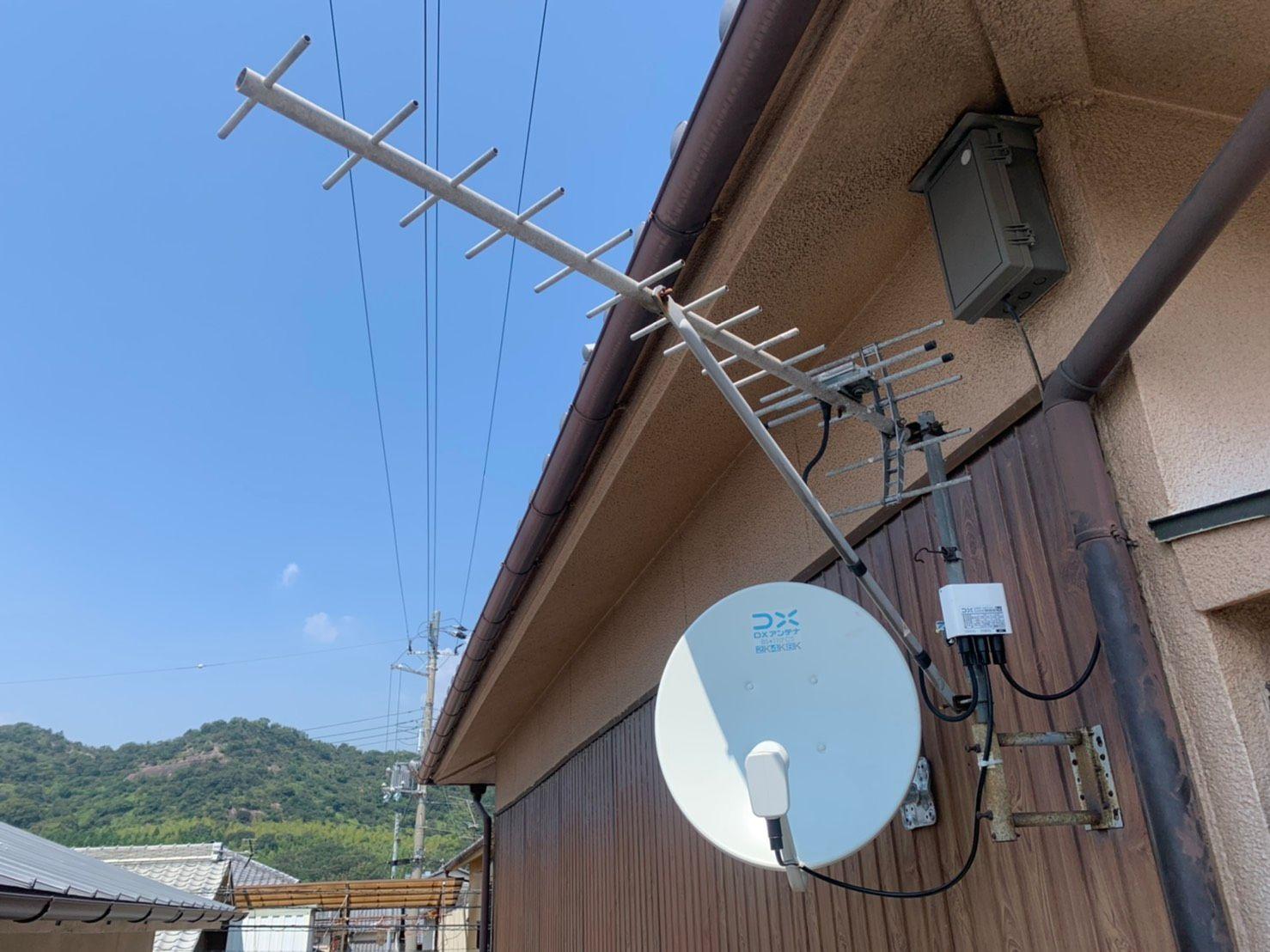 4K8KBSアンテナ壁面設置 DXアンテナ(姫路市)