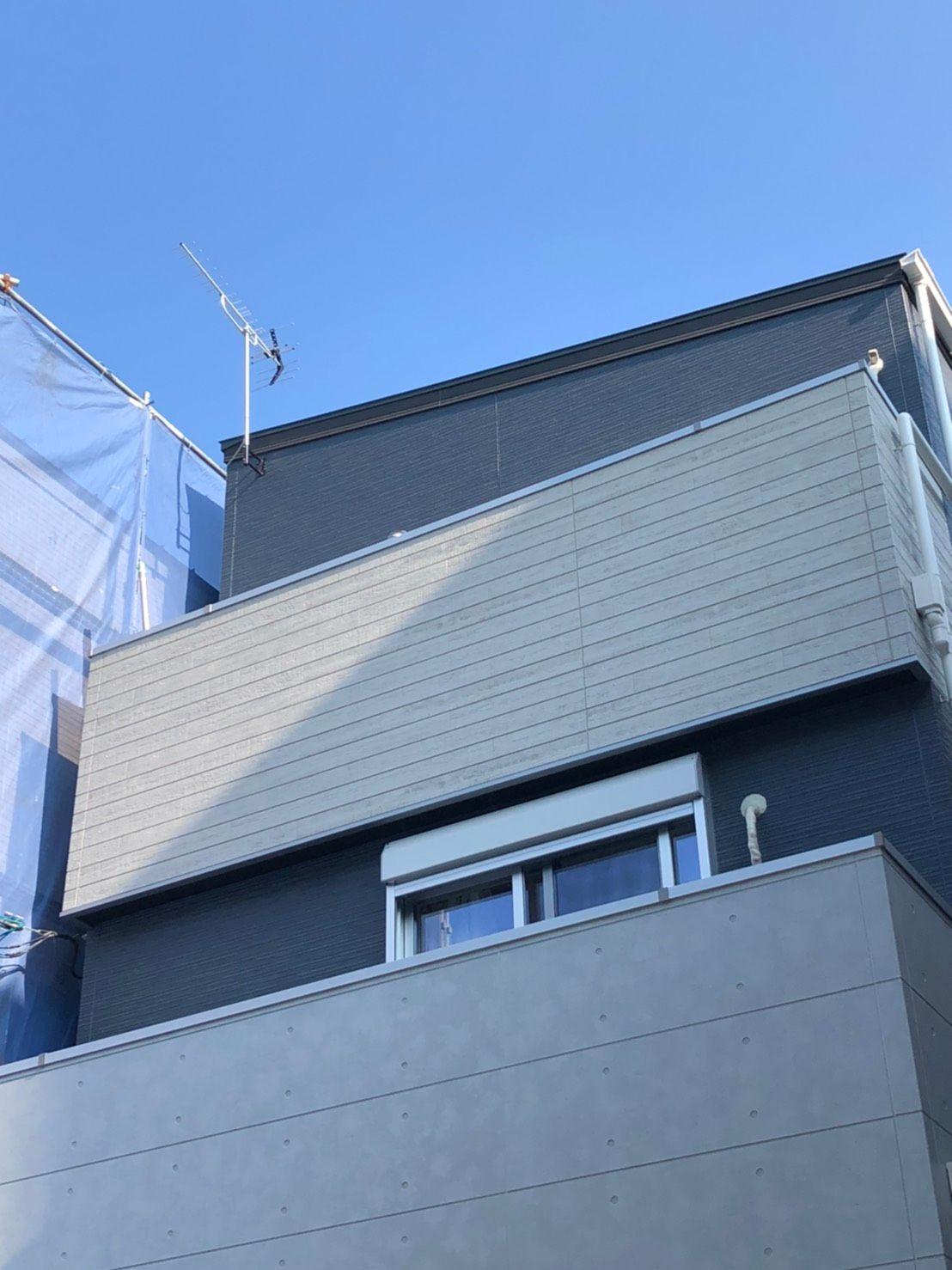 八木式アンテナ壁面設置 DXアンテナ(大阪市西淀川区)