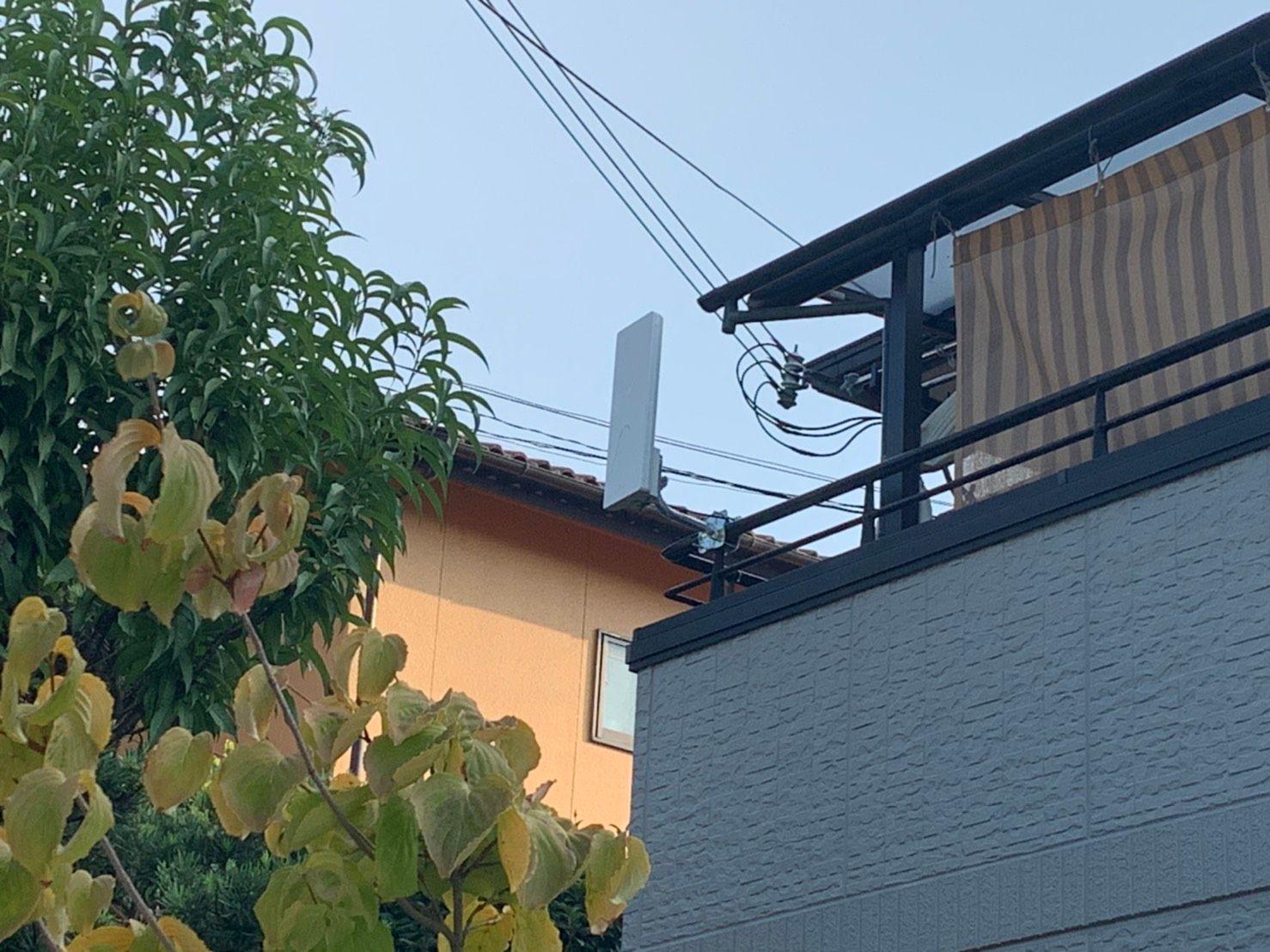 デザインアンテナベランダ設置 DXアンテナ(和泉市)