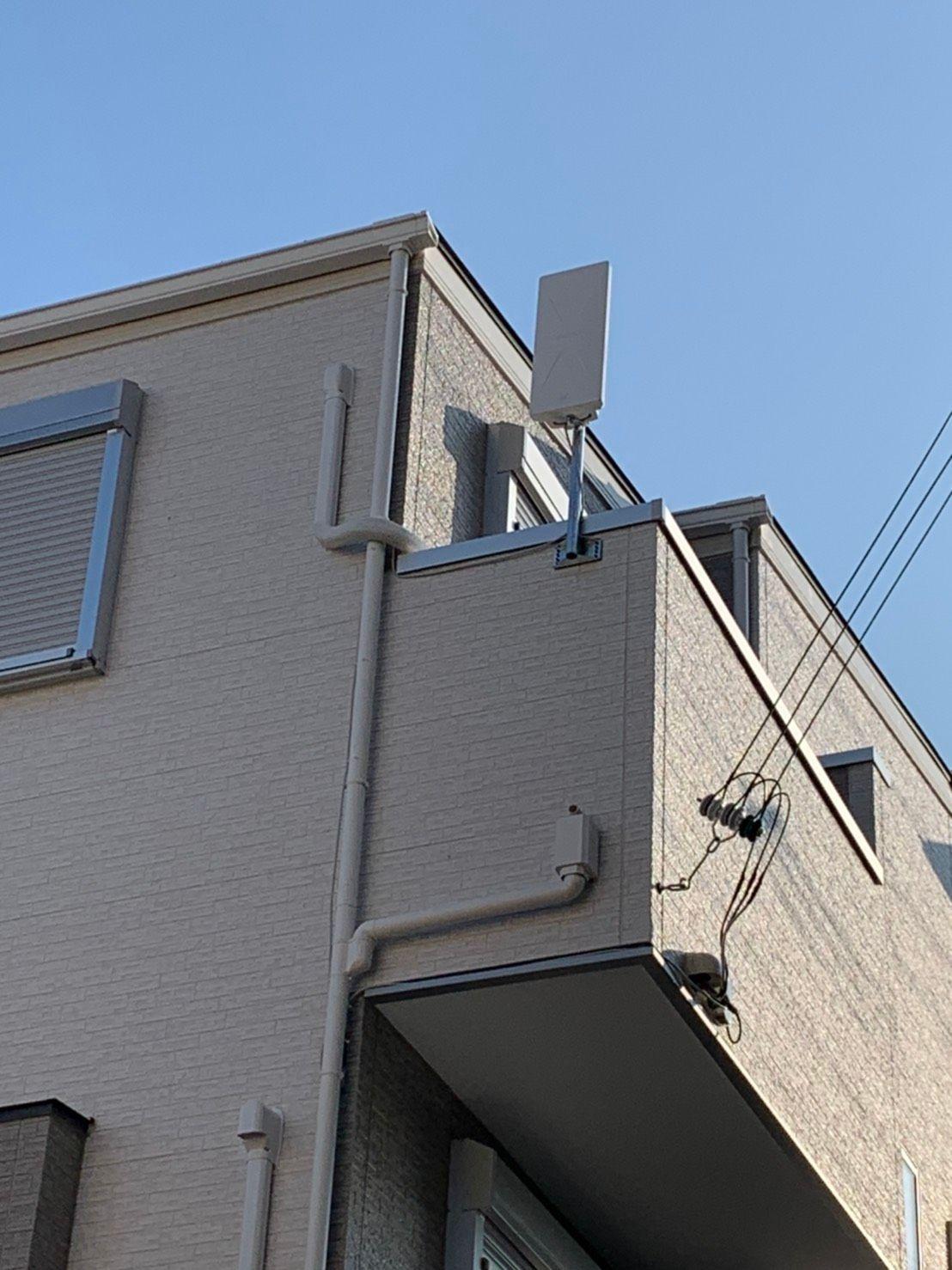 デザインアンテナベランダ設置 DXアンテナ(神戸市灘区)