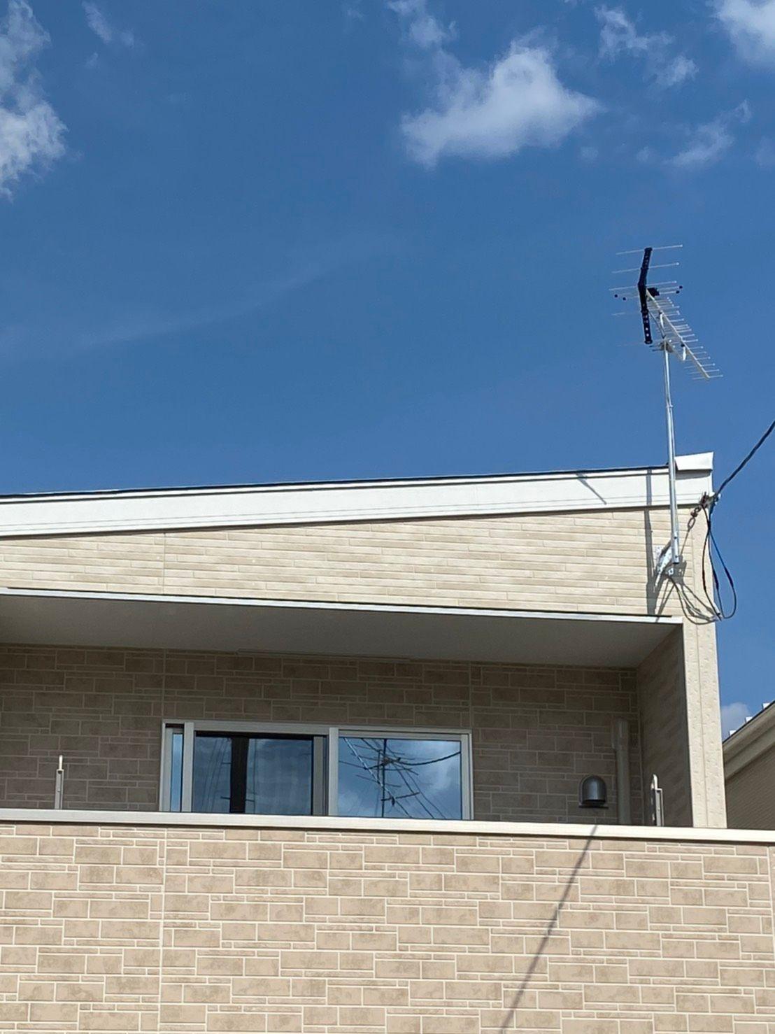 八木式アンテナ壁面設置 DXアンテナ 豊中市