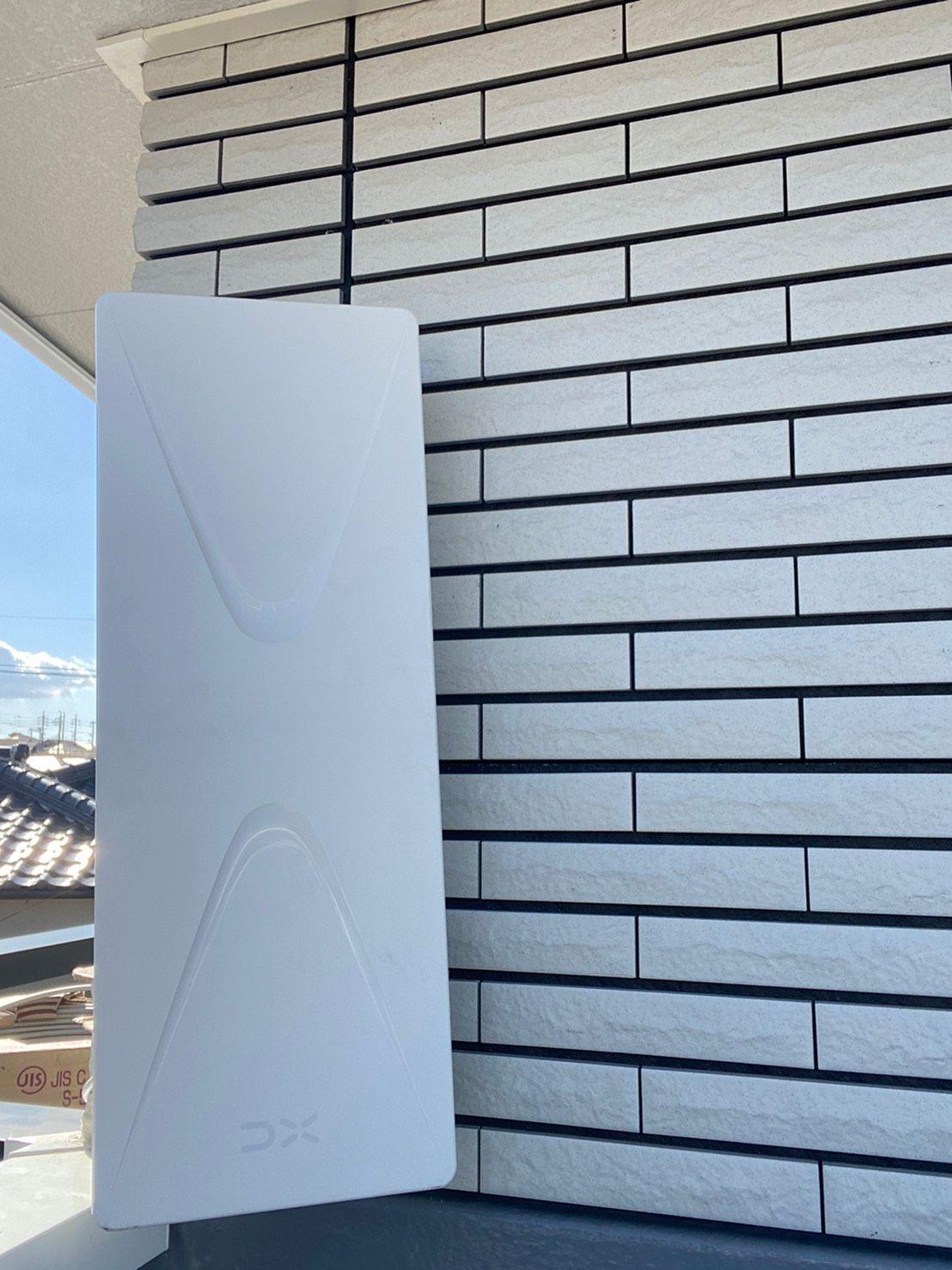 デザインアンテナ(白)壁面設置(愛知県名古屋市緑区)