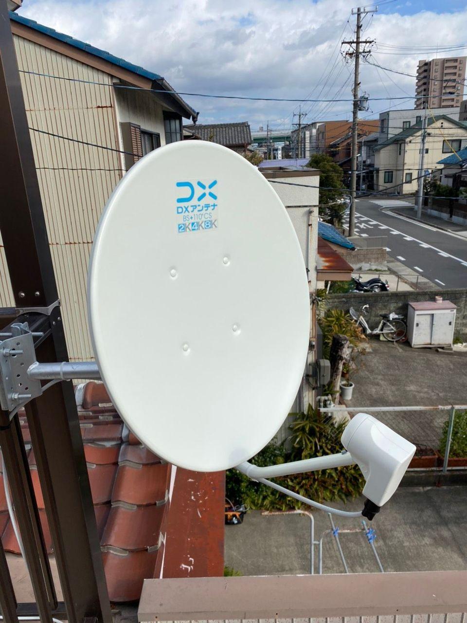 4K8K BSアンテナベランダ設置(愛知県名古屋市港区)