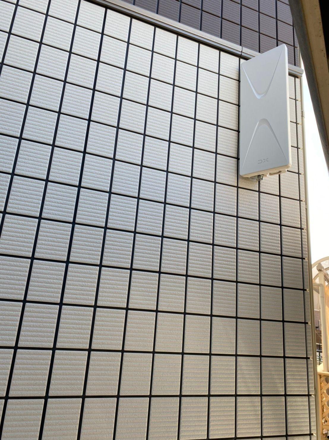 デザインアンテナ(白)壁面設置(愛知県名古屋市南区)