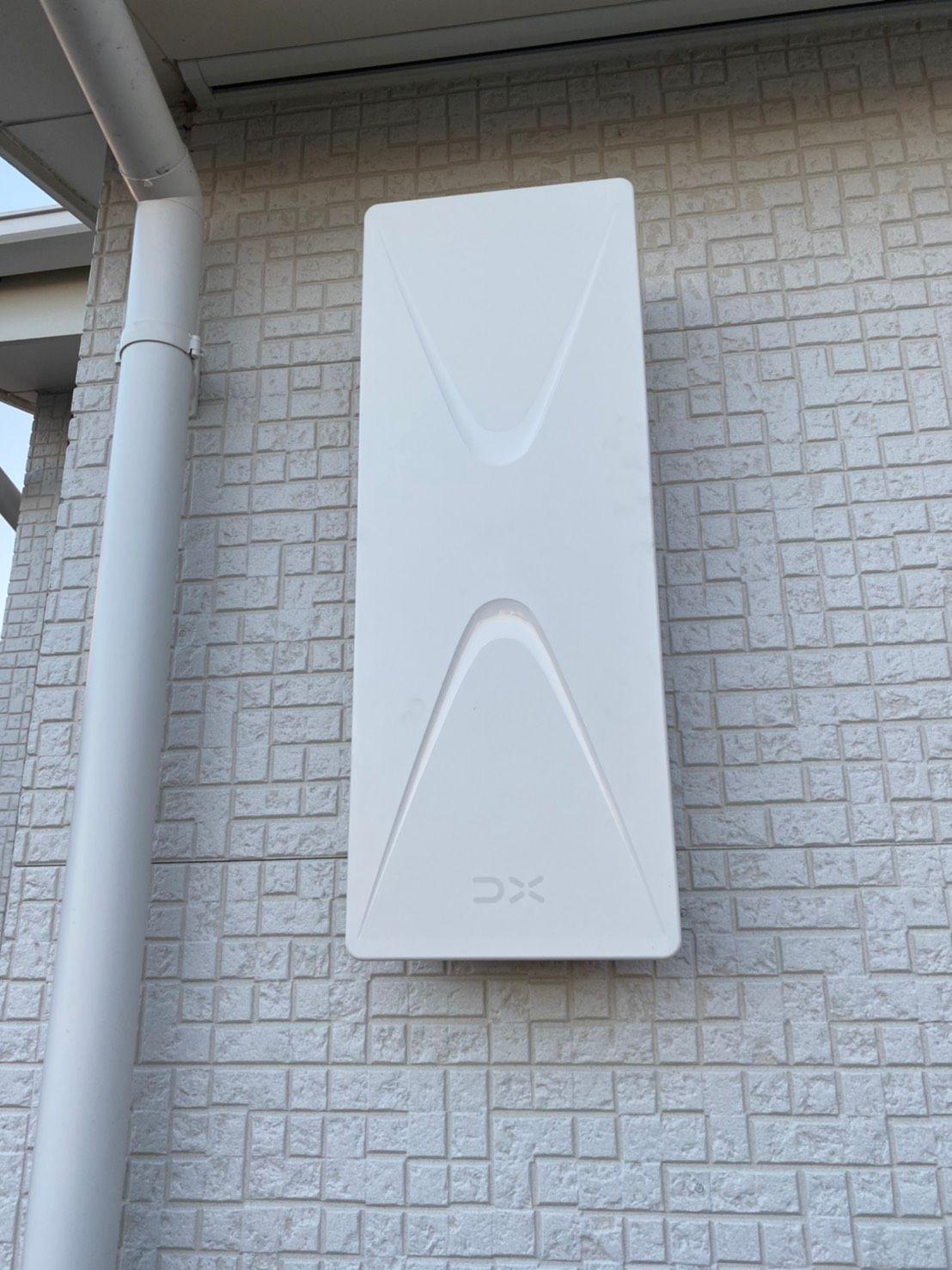 デザインアンテナ(白)壁面設置(愛知県豊明市)